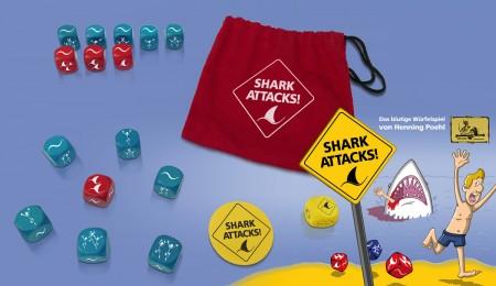 Shark Attacks - Das blutige Würfelspiel.