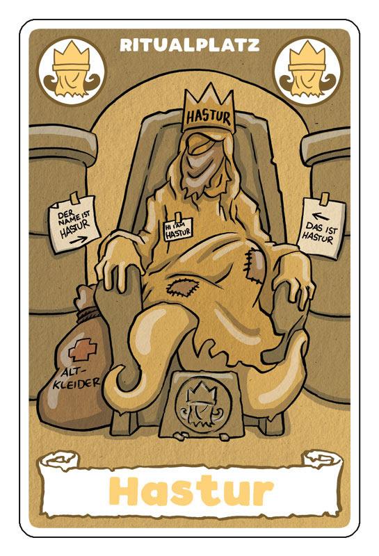 Ritualplatz Hastur - Karte aus Rituale des Wahnsinns